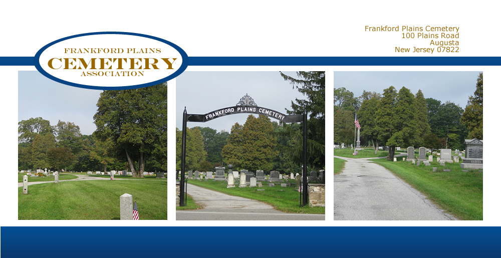 Individual and family cemetary plots gravesites at Frankford Plains Cemetery